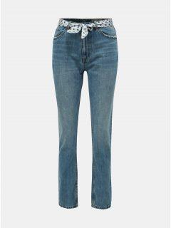 Modré regular fit džíny páskem VERO MODA Joana