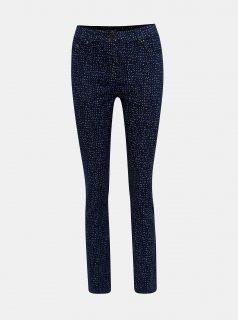 Tmavě modré puntíkované slim fit džíny M&Co