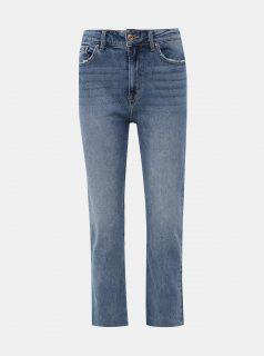 Modré zkrácené straight fit džíny ONLY Aspen