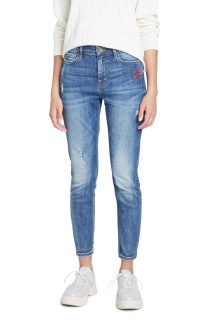 Desigual modré džíny Denim Alba Denim Medium Wash