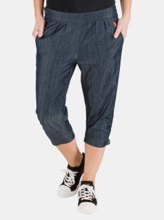 Tmavě modré dámské džínové 3/4 kalhoty SAM 73