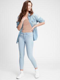 Modré dámské džíny v-favorite jegging light savannah mid rise