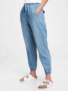 Modré dámské džíny soft indigo joggers