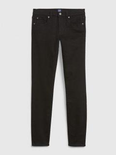 Černé dámské džíny mid rise true skinny jeans GAP