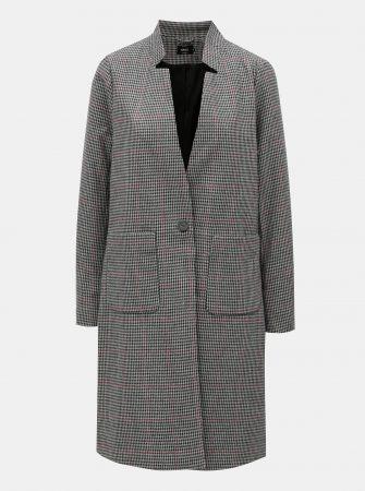 Šedo-černý vzorovaný kabát ONLY Helen - Dámské kabáty cf80be8987b