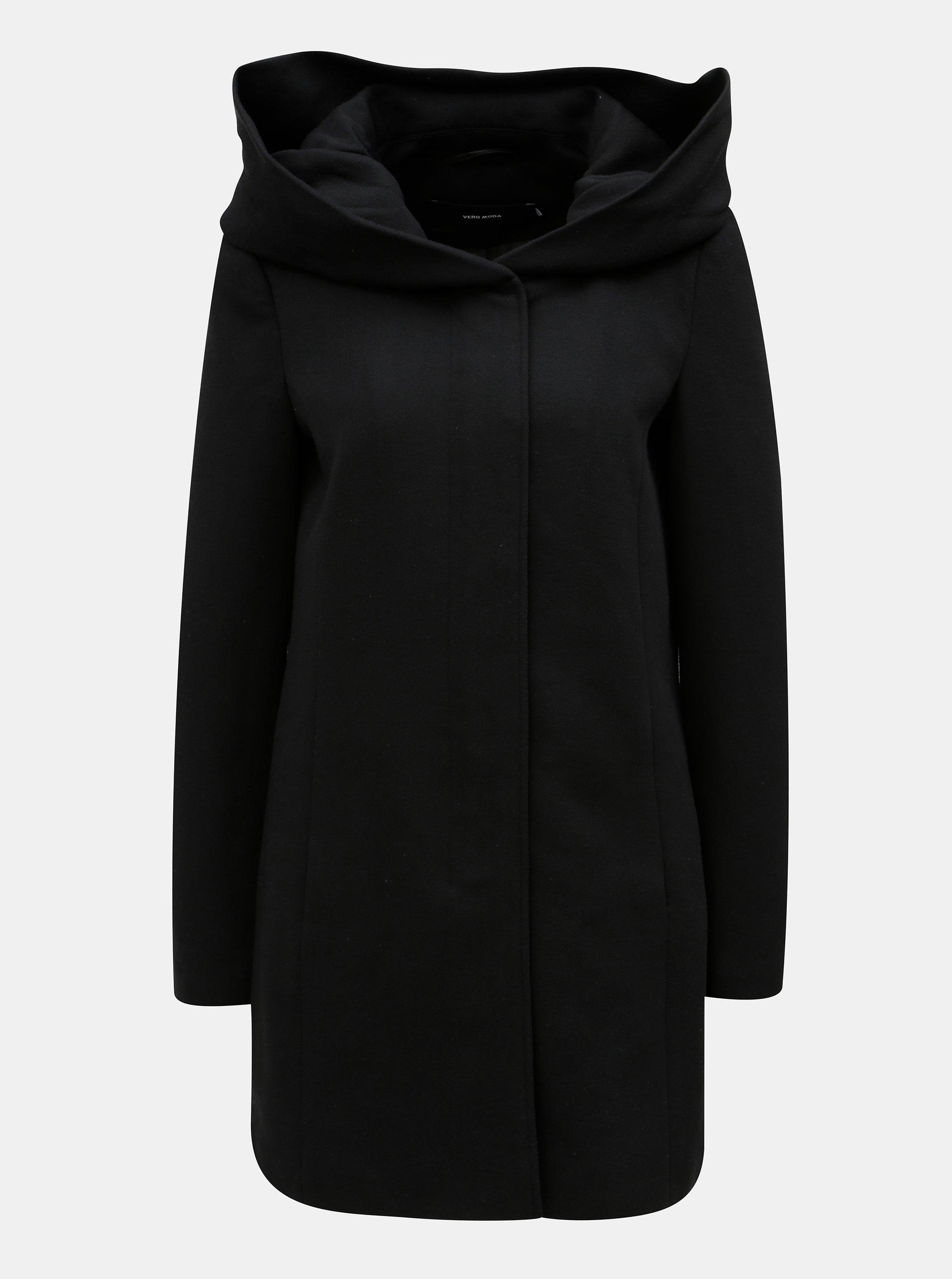 Černý mikinový kabát s kapucí VERO MODA
