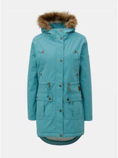 Světle modrá dámská zimní parka s vnitřním umělým kožíškem Meatfly Rainy