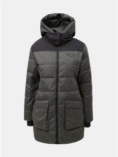 Tmavě šedý zimní nepromokavý kabát Kari Traa Rothe
