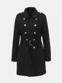 Černý kabát s ozdobnými knoflíky TALLY WEiJL