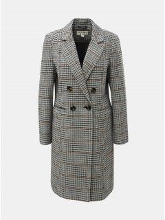 Černo-bílý károvaná kabát Miss Selfridge
