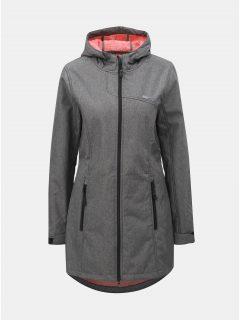 Šedý dámský žíhaný softshellový nepromokavý lehký kabát LOAP Lavinia