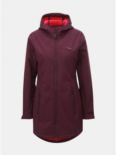 Fialový dámský softshellový nepromokavý lehký kabát LOAP Lavinia