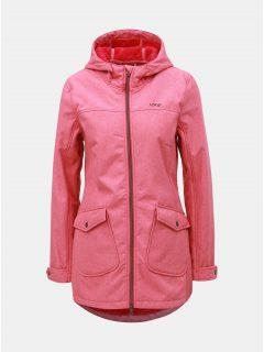 Růžový dámský softshellový nepromokavý kabát s kapsami LOAP Latisha