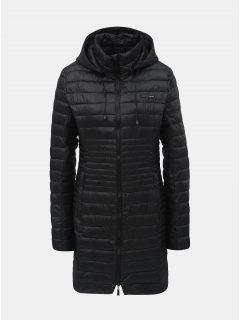 Černý dámský prošívaný voděodpudivý kabát s odnímatelnou kapucí LOAP Jomana