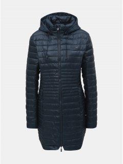 Tmavě modrý dámský prošívaný voděodpudivý kabát s odnímatelnou kapucí LOAP Jomana