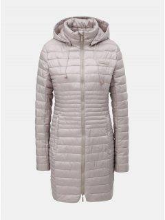 Béžový dámský prošívaný voděodpudivý kabát s odnímatelnou kapucí LOAP Jomana