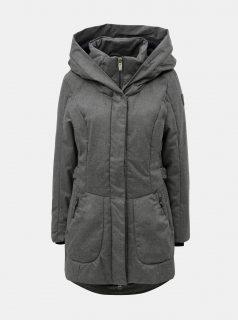 Šedý dámský žíhaný voděodolný kabát killtec