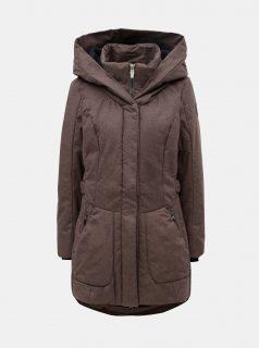 Hnědý dámský žíhaný voděodolný kabát killtec