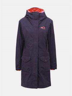 Fialový kabát s vnitřním lehkým odepínatelným kabátem Kari Traa Dalane