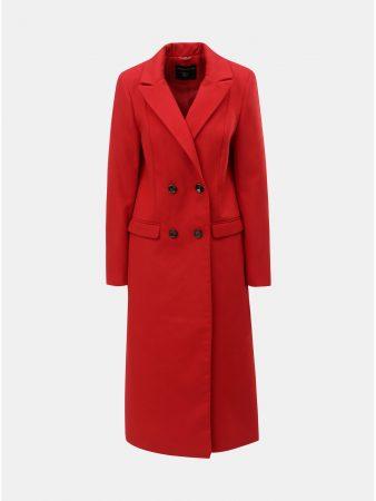 Červený dlouhý kabát Dorothy Perkins - Dámské kabáty 15dab1e8a2
