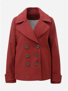 Cihlový krátký kabát Miss Selfridge