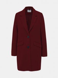 Vínový dámský zimní kabát s příměsí vlny Alcott