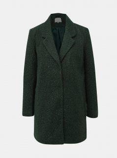Tmavě zelený kabát VILA Jessi