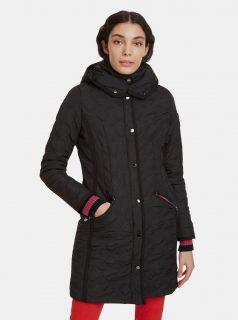 Černý prošívaný kabát Desigual Leicester