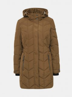 Hnědý dámský prošívaný kabát killtec Tera