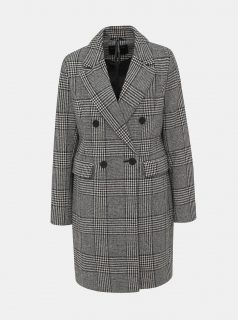 Šedý vzorovaný kabát Dorothy Perkins