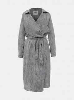 Šedý dámský kostkovaný lehký kabát Haily´s Amelie
