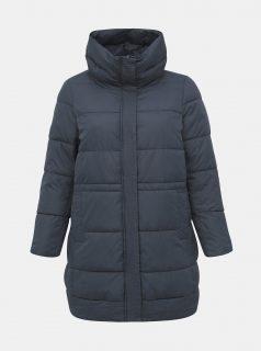 Tmavě modrý zimní prošívaný kabát Zizzi Capetra