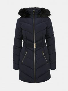 Tmavě modrý zimní prošívaný kabát Dorothy Perkins Tall