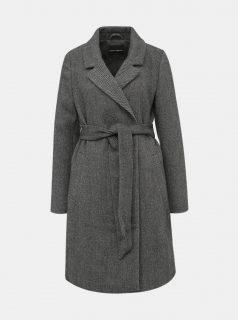 Tmavě šedý kabát s příměsí vlny TALLY WEiJL Fradi