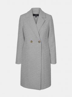 Šedý zimní kabát VERO MODA