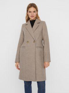 Béžový zimní kabát VERO MODA