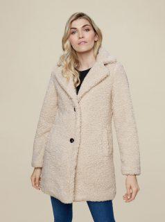 Krémový zimní kabát Dorothy Perkins