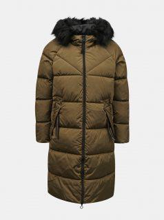 Khaki prošívaný zimní kabát ONLY Monica