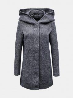 Modrý zimní kabát s kapucí VERO MODA
