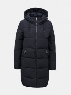 Tmavě modrý prošívaný zimní kabát ONLY Dolly