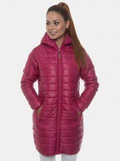 Růžový dámský prošívaný kabát SAM 73 Radeka