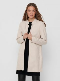 Krémový lehký kabát ONLY Soho