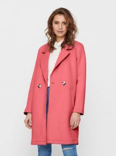Dámský růžový kabát ONLY-Bernadette