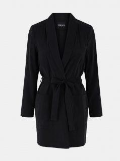 Černý lehký kabát Pieces  Calia