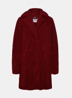 Vínový zimní kabát Noisy May Gabi