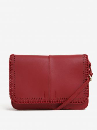 Červená crossbody kabelka s detaily ve zlaté barvě Nalí - Dámské kabelky ac838e09cd