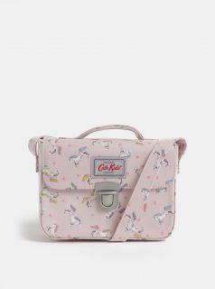 Světle růžová holčičí crossbody kabelka se vzorem jednorožců Cath Kidston