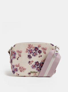 Růžovo-béžová dámská květovaná kabelka Cath Kidston