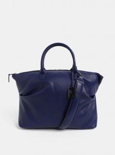 Modrá velká kožená kabelka do ruky BREE Stockholm37