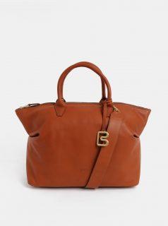 Hnědá velká kožená kabelka do ruky BREE Stockholm 37